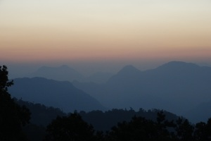 Sunrise over Rishikesh